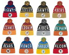New NFL Mitchell & Ness Throwback High Five 5 Cuffed Winter Hat Cap Knit Beanie