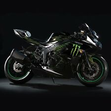 Monster Energy Fairings Graphic Wrap Kit Full Kawasaki Ninja Complete Decals Set