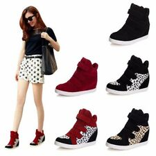 New Women Wedges Sneakers Mid Calf Flats High Platform Casual Shoes Ankle Boots