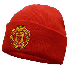 Manchester United Football Club Official Soccer Gift Knitted Bronx Beanie Hat