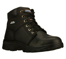 Skechers RELAXED FIT-WORKSHIRE ST Men's Shoes Steel Toe BLACK 77009BLK