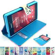 PU Leather Wallet Magnetic Flip Cell Phone Stand Case Cover For Sony Xperia M2