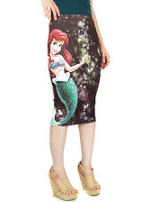 Disney Der Kleine Meerjungfrau Ariel Tief See Sublimation Junior Midi Rock