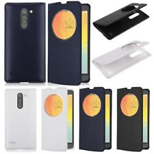 New Flip Circle View Leather  Window Case Battery Cover For LG L Bello D335 Dual