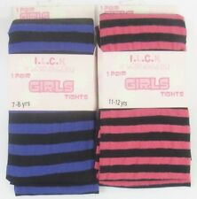 """Girls If Looks Could Kill Striped Tights """"Available In 2 Colours"""" B152"""
