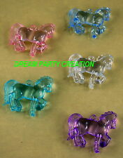 12 MINI ACRYLIC HORSES Baby Shower And Party Decor Favors  CHOOSE COLOR