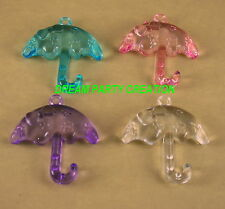 12 MINI ACRYLIC UMBRELLAS Baby Shower And Party Decor Favors  CHOOSE COLOR