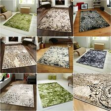 New Modern Faded Design Beige Grey Purple Green Black Purple Rug Large Sizes