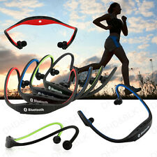 Black Sports Stereo Wireless Bluetooth Headset Earphone for Cell Phone iPhone PC