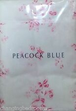 PEACOCK BLUE  / PINK ROSES FLANNELETTE HOUSEWIFE 50x75cm PILLOWCASE PAIRS