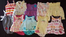 Lots Of Girl's 9 M 6-9 Months One Piece Outfits Rompers Floral Animal Carter's +