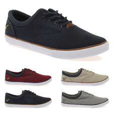 NEW MENS VOI JEANS FIERY COURT CASUAL PLIMSOLLS CANVAS TRAINERS SHOES SIZE 6-12