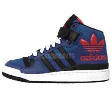 Adidas Originals Forum Mid XL Black Blue Leather 2015 Mens Casual Shoes Sneakers