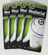 4 New in Package Footjoy WeatherSof Golf Gloves LH, Multiple Sizes, For Righties
