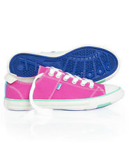 New Womens Superdry Super Series Lo Top Trainers Desert Pink