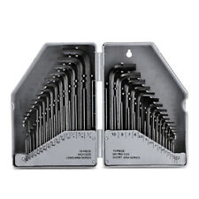 Allen Wrench Hex Key Set 30 PC SAE / MM Metric Long Short Arm Tools With Case