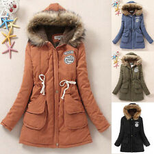 2015 Friday Winter Womens Fur Collar Long Hooded Parka Down Coat Jacket Outwear