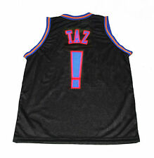 TAZ!   TUNE SQUAD SPACE JAM MOVIE JERSEY BLACK NEW - ANY SIZE XS - 5XL