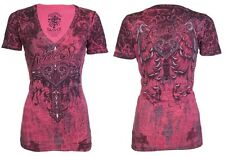 Rebel Saints AFFLICTION Womens T-Shirt GENIE Tattoo Biker UFC Sinful S-XL $40