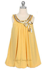 New Flower Girls Yellow Rayon Dress Size 6 Wedding Christmas Pageant CLEARANCE