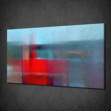 ABSTRACT RED BLUE PAINT TEXTURE PICTURE CANVAS PRINT WALL ART DECOR FREE POSTAGE