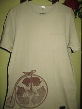 """Men's Sage Green """"Recycle"""" Conservation Bicycle Short Sleeve Pocket T-Shirt"""