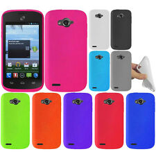 For ZTE Savvy Z750C Color SILICONE Soft Gel Skin Rubber Case Cover Accessory