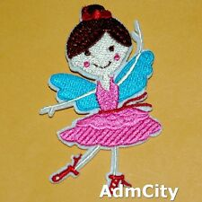 Ballet Dancing Girl Iron on Patch Embroidered Applique Cute Badge Baby