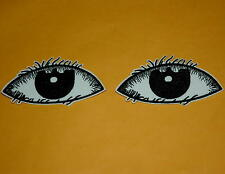 2 Big Eye Eyeball Iron on Patch Embroidered Applique Cute Badge Lots Retro Biker