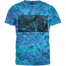 Your Brain On Shrooms Tie Dye Adult Mens T-Shirt