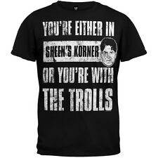 Charlie Sheen - With The Trolls Adult Mens T-Shirt