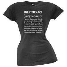 Ineptocracy Definition Juniors Black T-Shirt
