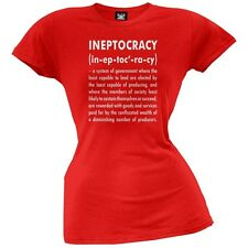 Ineptocracy Definition Red Juniors T-Shirt