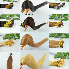 """24"""" 100g Remy A Or AAA Stick I-Tip Pre Bonded Keratin Glue Human Hair Extensions"""