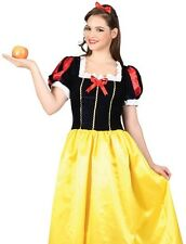 Fairytale Snow Princess Long Snow White Book Week Fancy Dress Costume S to XL