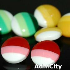 Admcity 10 Sewing Buttons Craft Plastic Shank Vintage-Like Round Gold Diy Lots