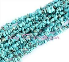 """WHOLESALE 6-8MM FREEFORM CHIPS BLUE TURQUOISE SPACER GEMSTONE BEADS STRAND 16"""""""