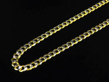 "Real 10K Yellow Gold Diamond Cut Cuban Link Style Chain Necklace 18-26"" (2.5MM)"