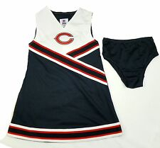Chicago Bears Cheer Outfit Girl's 2-Piece Team Spirit Cheerleader Dress Costume