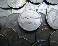Choose Your Year - Irish Two Shilling Coins - 1951 -1966 From £1 Each Coin