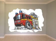 Huge Koolart Cartoon Emergency London Fire Engine Wall Sticker Poster Mural 1845