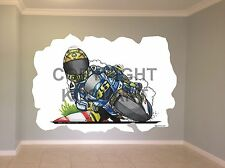 Huge Koolart Cartoon Yamaha V Rossi Moto Gp Wall Sticker Poster Mural 3223