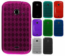 Cricket ZTE Prelude 2 TPU CANDY Gel Flexi Skin Case Phone Cover Plaid Accessory
