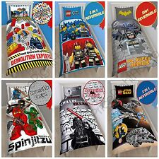 OFFICIAL LEGO SINGLE DUVET QUILT COVERS – CITY, MOVIE, NINJAGO & SUPERHEROES