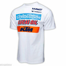 Troy Lee Designs TLD KTM Racing Team Tee Shirt White Motocross Lucas Oil 7012501