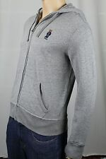 Ralph Lauren Grey Flag Sweater Polo Bear Hoodie Full Zip Sweatshirt NWT
