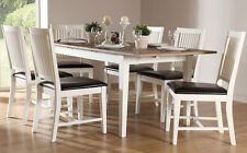 Adelphi Extending Painted Dining Room Table and 4 6 Chairs Set (British white)
