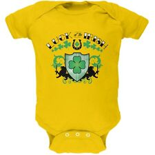 St. Patricks Day - Luck Of The Irish Yellow Soft Baby One Piece