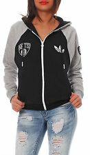 Adidas Originals Brooklyn Nets FZ Hoodie NBA Hooded jacket Ladies Children