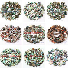 NATURAL MULTICOLOR ABALONE SHELL JEWELRY MAKING SPACER GEMSTONE BEADS STRAND 15""